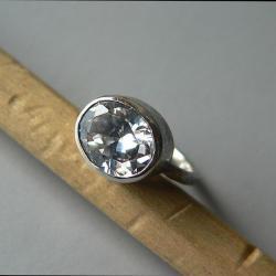 cyrkonia,srebro oksydowane,z cyrkonią - Pierścionki - Biżuteria