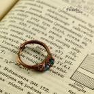 Pierścionki pierścionek,elektroformowanie,miedź,agat,pociecha