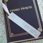 Zakładki do książek Zakładka na I Komunię Świętą - O szczęście niepoję