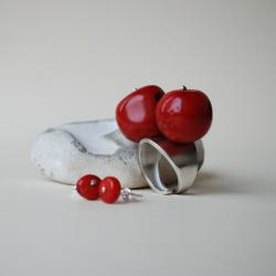 nitza,koral,biżuteria autorska - Komplety - Akcesoria
