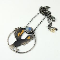 sowa,keumboo,złoto,natura,las - Wisiory - Biżuteria