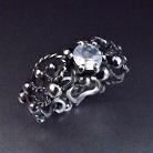 Pierścionki srebrny pierścionek z kamieniem księżycowym
