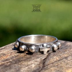 różaniec,pierścień różańcowy,sygnet - Dla mężczyzn - Biżuteria