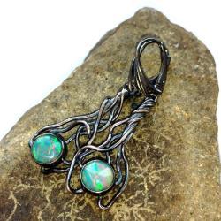opal,blask,długie,romantyczne,opale,zjawiskowe, - Kolczyki - Biżuteria