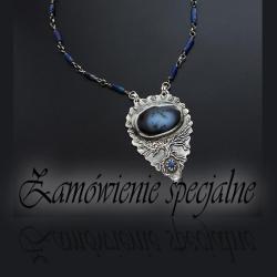srebrny,z opalem dendrytowym,baśniowy - Naszyjniki - Biżuteria