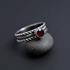 Pierścionki srebrny pierścionek,granat,ozdobny pierścionek