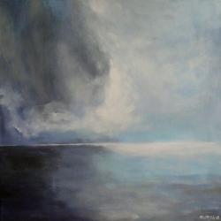 morze,szary,niebiesk,czerń,biel,abstrakcja - Obrazy - Wyposażenie wnętrz