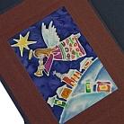 Kartki z malowanym jedwabiem