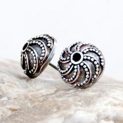 kolczyki,kobiece,oksydowane,srebrne,sztyfty, - Kolczyki - Biżuteria