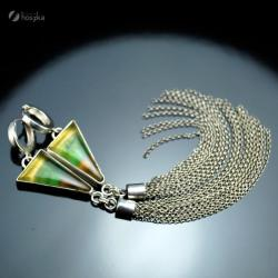 długie kolczyki,chwosty,fluoryt - Kolczyki - Biżuteria