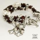 Bransoletki komplet biżuterii,kolczyki,bransoleta z pereł