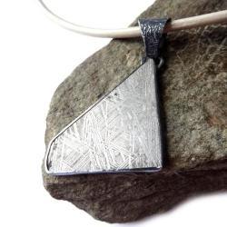 meteoryt,srebrny,blask,srebrzysty,unikat,srebro, - Wisiory - Biżuteria