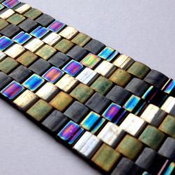 bransoletka,szeroka,mozaika,Extrano,Tila - Bransoletki - Biżuteria
