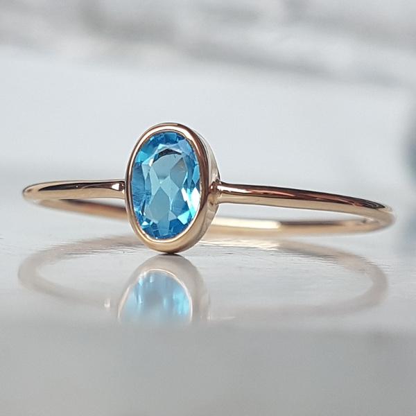 73a4a3d3c64e83 pierścionek,złoto,topaz, - Pierścionki - Biżuteria w ArsNeo