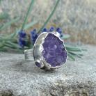 Klejnoty Morii - pierścień z ametystową druzą
