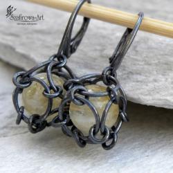 kolczyki,klatka,ciekawe,nietuzinkowe - Kolczyki - Biżuteria