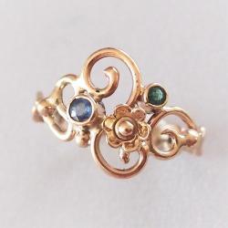 złoty pierścionek,inny pierścionek zaręczynowy - Pierścionki - Biżuteria