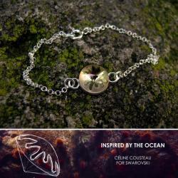 srebrna bransoletka z jeżowcem Swarovski - Bransoletki - Biżuteria