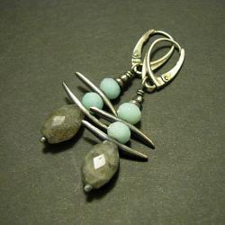 kolczyki,pastelowe,ozdobne,delikatne - Kolczyki - Biżuteria