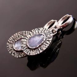 kolczyki,srebro,tanzanit - Kolczyki - Biżuteria