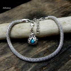 elegancka,srebrna bransoletka - Bransoletki - Biżuteria