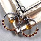 Kolczyki srebrne koła,wiszące,lekkie,minerały,codzienne