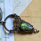 Naszyjniki naszyjnik,labradoryt,miedź,amulet,wire wrapping