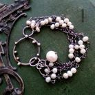 Bransoletki srebrna bransoleta,perły,925,metaloplastyka