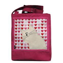 szkoła,uczelnia,prezent,torba z kotem,kot - Na ramię - Torebki