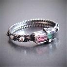 Pierścionki srebrny pierścionek różaniec z turmalinem