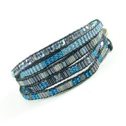 bransoletka,koralikowa,cienka,zawijana - Bransoletki - Biżuteria