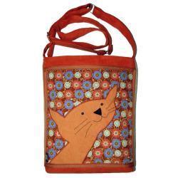 szkoła,uczelnia,prezent,torba z kotem - Na ramię - Torebki