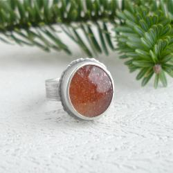 brokat,awenturyzacja,kamień słoneczny - Pierścionki - Biżuteria