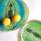 Ceramika i szkło patera,szkło,fusing