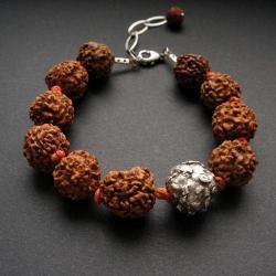 rudraksza,bransoletka,z nasion,handmade,fiann - Bransoletki - Biżuteria