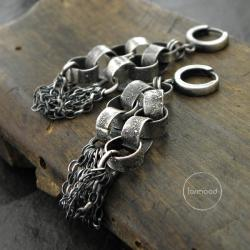 kolczyki z łańcuchem - Kolczyki - Biżuteria