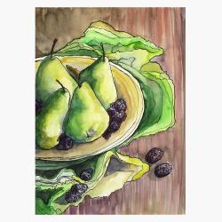 ilustracja,na ścianę,wnętrze,kuchnia,prezent,owoce - Ilustracje, rysunki, fotografia - Wyposażenie wnętrz