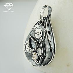 omerta,mechanizm,czas,steampunk - Wisiory - Biżuteria