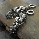 Kolczyki kolczyki z łańcuchem