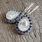 Kolczyki koronkowe kolczyki z kryształami i cyrkoniami