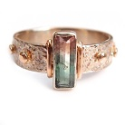 Pierścionki złoty pierścionek różaniec z turmalinem