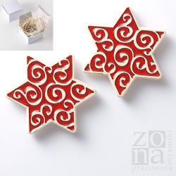 gwiazda,gwiazdki,czerwone,magnesy,świąteczne - Ceramika i szkło - Wyposażenie wnętrz