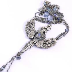 naszyjnik z feniksem,ręcznie robiony,hand made - Naszyjniki - Biżuteria