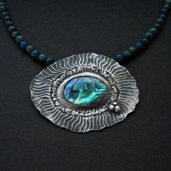 648d9b32a74aa6 naszyjnik,muszla paua,biżuteria artystyczna - Naszyjniki - Biżuteria ...