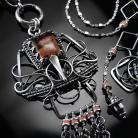 Naszyjniki srebrny,naszyjnik,jaspis,oceaniczny,ciba,elegancki