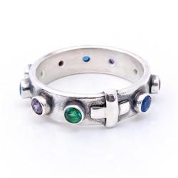 6d5ff21b41754e kolorowy... różeniec w srebrze. pierścionek różaniec,różaniec na palec ...
