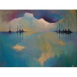 morze,łodzie. - Obrazy - Wyposażenie wnętrz