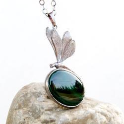 naszyjnik,ważka,artseko,srebrny,elegancki,prezent, - Wisiory - Biżuteria