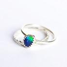 Pierścionki srebrny pierścionek,opal australijski,delikatny