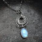 Naszyjniki Naszyjnik - srebro i kamień księżycowy
